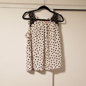 Blouse tank top polka dot